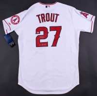 """Mike Trout Signed Angels Team Patch Jersey Inscribed """"14 AL MVP"""" (MLB Hologram)"""