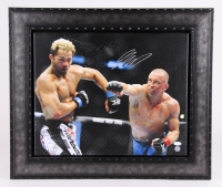 Georges St-Pierre Signed 22x26 Custom Framed Canvas (JSA COA)
