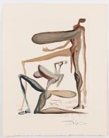 "Salvador Dali Signed 10x13 ""Prodigality"" Divine Comedy Woodcut Print (JSA LOA)"