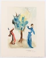 "Salvador Dali Signed 10x13 ""The Tree of Castigation"" Divine Comedy Woodcut Print (JSA LOA)"