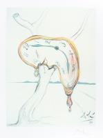 "Salvador Dali ""Melting Clock"" 20""x26"" Lithograph (Limited Edition #471/500)"