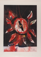 "Salvador Dali Signed LE ""Montre-Fleur"" 19x25 Lithograph (PA LOA)"