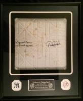 "Derek Jeter & Mariano Rivera Signed 22x26x5 Yankees Custom Framed Game-Used Base Shadowbox Display Inscribed ""13 Final Season"" (Steiner COA & Steiner LOA)"