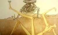 "Salvador Dali Signed ""Don Quichotte de la Mancha LE: ""The Heart of Madness"" 16x17 LE 1980 Etching & Aquatint on Arches Paper EA"