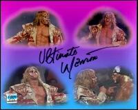 "Ultimate Warrior Signed WrestleMania VI vs. Hulk Hogan ""Crash The Plane"" Shoot Interview 8x10 Photo (Ultimate Warrior Hologram)"
