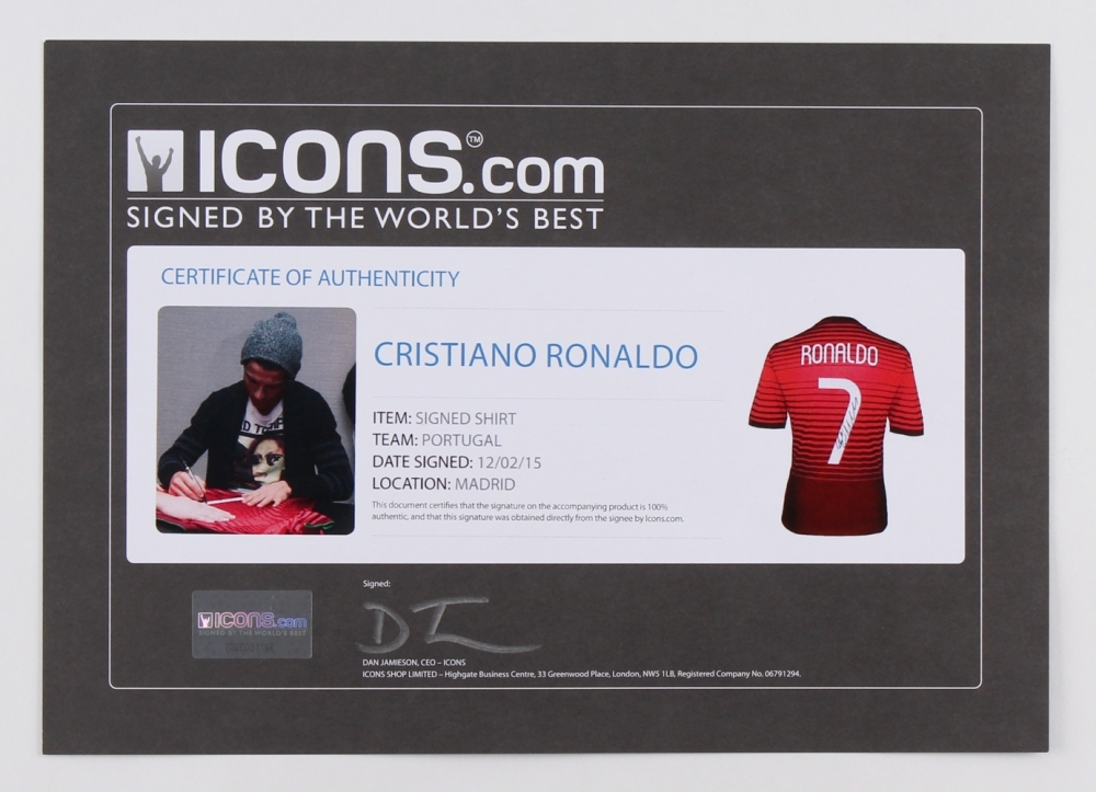 28e1419ff61 Cristiano Ronaldo Signed Team Portugal Authentic Nike Soccer Jersey (Ronaldo  COA) at PristineAuction.