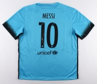 """Lionel """"Leo"""" Messi Signed Barcelona Authentic Nike Soccer Jersey (Messi COA)"""