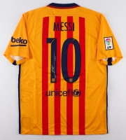 "Lionel ""Leo"" Messi Signed Barcelona Authentic Nike Soccer Jersey (Messi COA)"