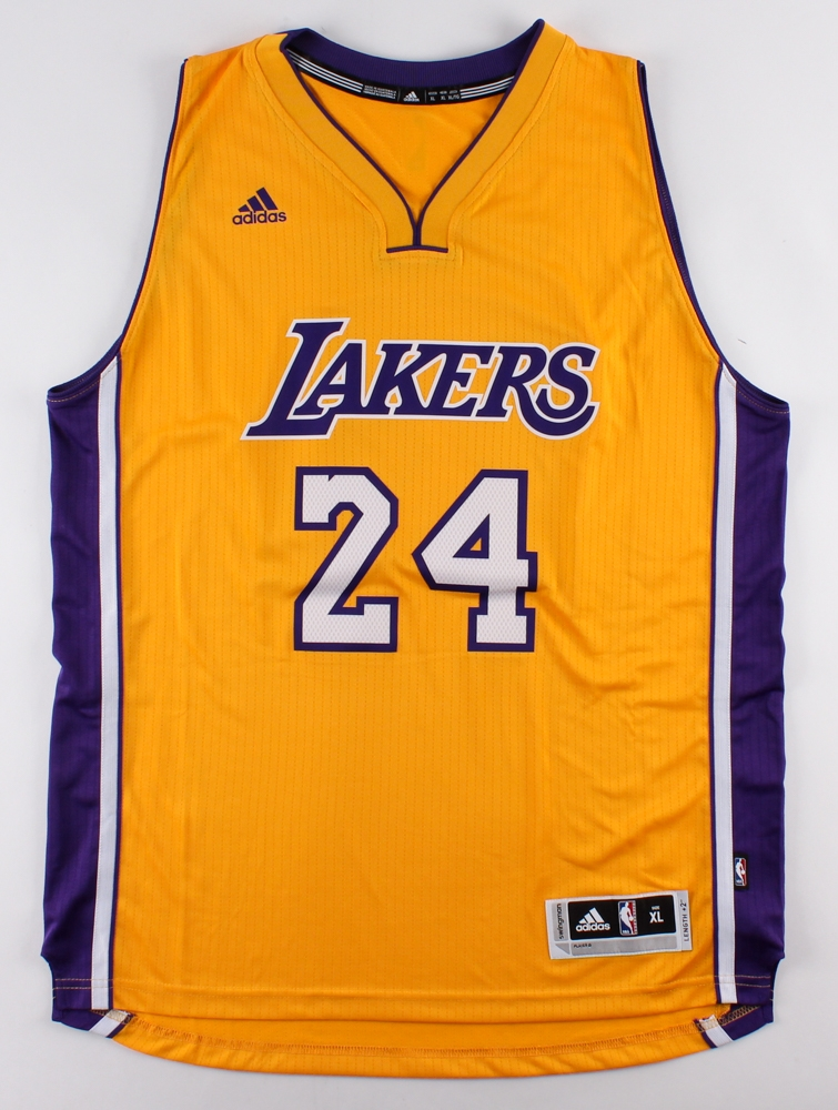 9ac92bfccd0 Kobe Bryant Signed LE Lakers Authentic Adidas Jersey Inscribed