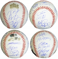 Chicago Cubs 2016 World Series Champion Team-Signed OML Baseball with (22) Signatures Including Joe Maddon, Ben Zobrist, Javier Baez, Kyle Hendricks, Addison Russell, Dexter Fowler (MLB & Fanatics Hologram)