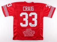 Roger Craig Signed 49ers Career Highlight Stat Jersey (Beckett COA)