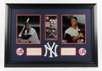"Mickey Mantle & Roger Maris Signed Yankees 22""x31"" Custom Framed Cut Display (JSA LOA)"