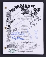 """The Wizard of Oz"" Full Script Signed By (13) With Jerry Maren, Meinhardt Raabe, Lois January, Mickey Carroll, Tiny Doll, Murray Wood, Dorothy Barrett (JSA ALOA)"