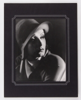 Greta Garbo Black & White 11x14 Custom Matted Photo from Original Negative Stamped from the Edward Weston Collection
