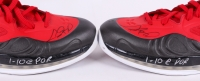 """Chris Bosh Signed Pair of (2) Miami Heat Game-Used Basketball Shoes Inscribed """"1-10 @ Portland"""" (Fanatics) at PristineAuction.com"""