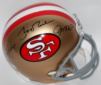 """Joe Montana, Jerry Rice & Steve Young Signed """"49ers Hall of Famers"""" Full-Size Helmet (Montana, Rice & Young Holograms)"""