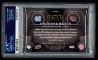 2011-12 Exquisite Collection Endorsements Dual Holo #EE2EJ Julius Erving / Michael Jordan #5/5 (PSA 8) at PristineAuction.com