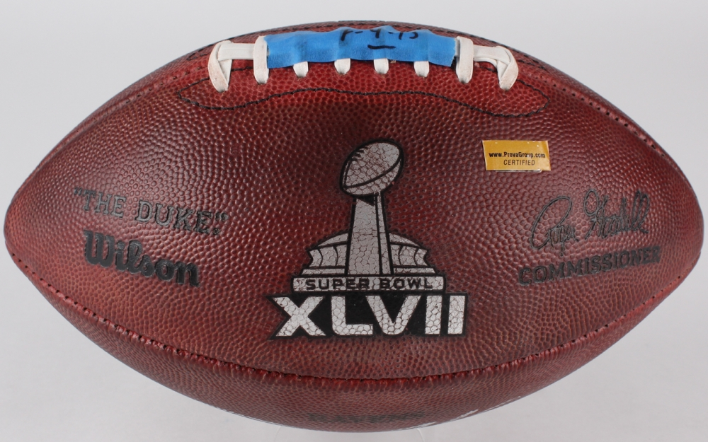 db0f1286d6c Joe Flacco Signed Game-Used Super Bowl XLVII NFL Official Game Ball (Prova  COA