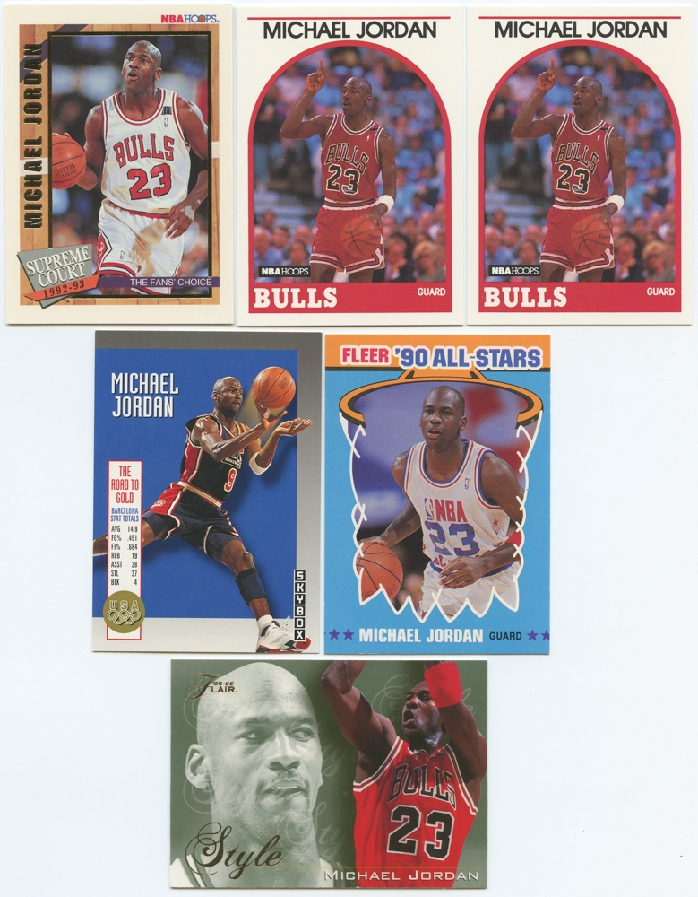 6b91594a793 Lot of (6) Michael Jordan Basketball Cards with 1992-93 Hoops Supreme Court