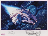 "Greg Hildebrandt and Tim Hildebrandt Signed ""Star Wars: Shadows of the Empire"" Limited Edition 18x24 Poster with Hand-Drawn Sketch"