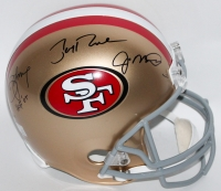 """Joe Montana, Jerry Rice & Steve Young Signed """"49ers Hall of Famers"""" Full-Size Helmet Inscribed """"HOF '05"""" (Montana, Rice & Young Holograms)"""