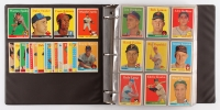 1958 Topps Complete Set of (495) Baseball Cards with #1 Ted Williams, #5 Willie Mays, #30 Hank Aaron, #47 Roger Maris RC, #52A Roberto Clemente, #150 Mickey Mantle, #433A Pancho Herrera, #418 World Series Batting Foes / Mickey Mantle / Hank Aaron