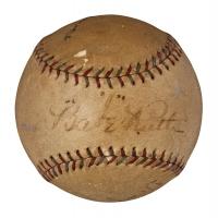 Babe Ruth & Tony Lazzeri Signed OAL Baseball (PSA LOA)