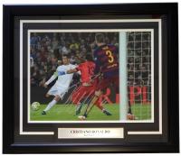 """Cristiano Ronaldo Signed 19""""x24"""" Custom Framed Photo Display (Icons COA)"""