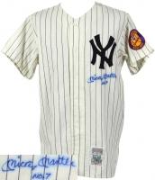 "Mickey Mantle Signed Yankees Jersey Inscribed ""No 7"" (JSA ALOA)"
