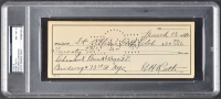 Babe Ruth Signed Personal Bank Check (PSA Encapsulated)