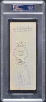 Babe Ruth Signed Personal Bank Check (PSA Encapsulated) at PristineAuction.com