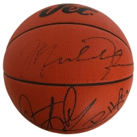 Michael Jordan, Dennis Rodman & Ron Harper Signed Basketball (JSA LOA)