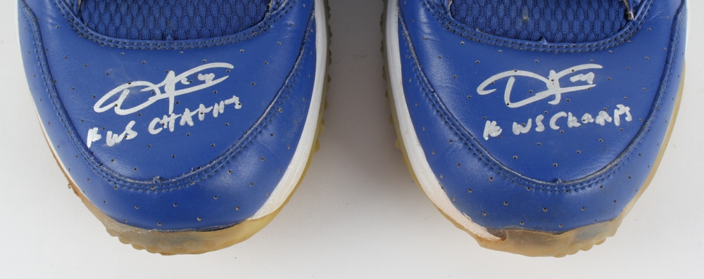 38c404e274ede8 Dexter Fowler Signed Pair of Cubs 2016 Nike Team Jordan Turf Shoes  Inscribed