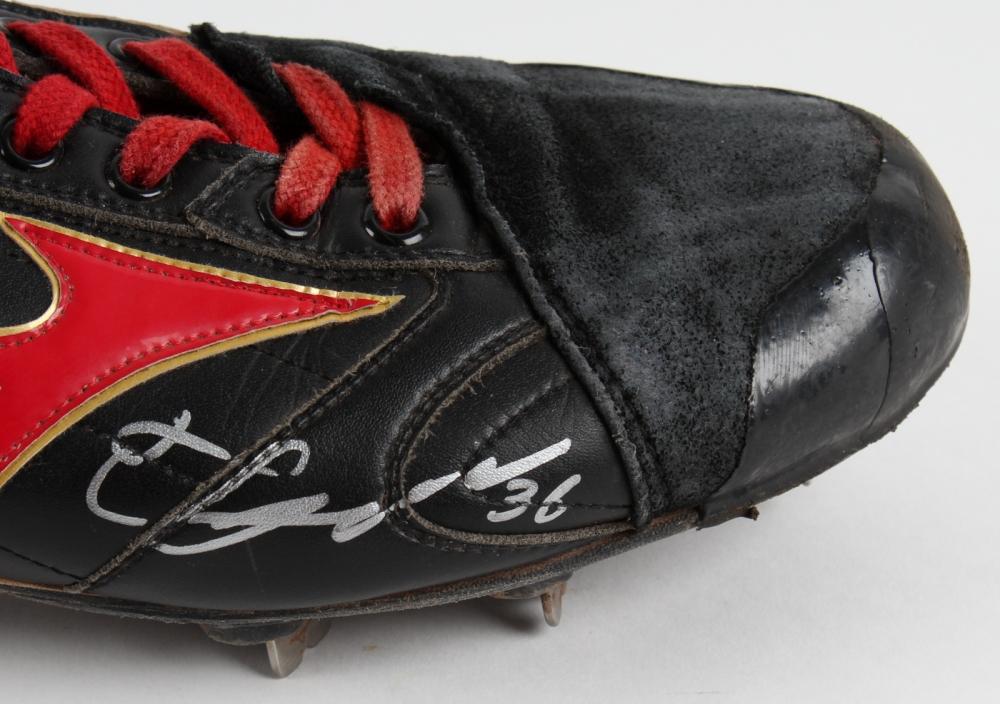 b4c049384 Junichi Tarawa Signed Pair of Red Sox Game-Used Mizuno Custom