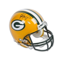 Brett Favre Signed Green Bay Packers Full-Size Authentic On-Field Helmet (UDA COA) at PristineAuction.com