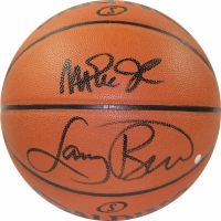 Magic Johnson & Larry Bird Signed NBA Basketball (Steiner COA)