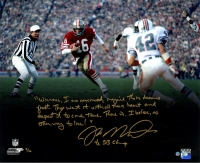 "Joe Montana Signed 49ers ""Super Bowl XXIII"" LE 16x20 Photo with Handwritten Story Inscription (Steiner COA)"