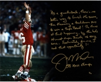 Joe Montana Signed 49ers Super Bowl XXIII LE 16x20 Photo with Handwritten Story Inscription (Steiner COA)