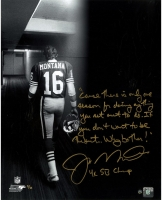 Joe Montana Signed 49ers LE 16x20 Photo with Extensive Inscription (Steiner COA)