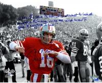 """Joe Montana Signed 49ers """"Super Bowl XIX"""" LE 16x20 Photo with Extensive Inscription (Steiner COA)"""