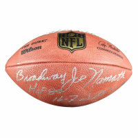 """Broadway"" Joe Namath Signed NFL ""The Duke"" Football Inscribed ""HOF 85"" & ""16-7 Jets"" (Steiner COA)"