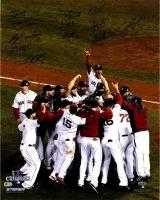 Boston Red Sox 2013 World Series 16x20 Photo Team-Signed by (12) Including David Ortiz, Dustin Pedroia, Jon Lester (Steiner COA, MLB & JSA)