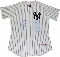 New York Yankees Greats Jersey Team-Signed by (9) with Mariano Rivera, Derek Jeter, Jorge Posada, Alex Rodriguez (Steiner COA)