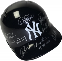 New York Yankees Batting Helmet with Left Ear Flap Team-Signed by (8) Including Alex Rodriguez, Derek Jeter, Mariano Rivera (Steiner COA & MLB)
