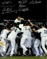 New York Yankees 2009 World Series 16x20 Photo Team-Signed by (8) Including Derek Jeter, Mariano Rivera, Mark Teixeira (Steiner COA)