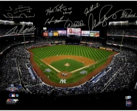 2009 World Series Game 6 16x20 Photo Signed by (9) Including Alex Rodriguez, Mariano Rivera, Derek Jeter (Steiner COA)