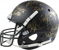 Heisman Trophy Winners Full-Size Custom Matte Black Helmet Signed by (24) Including Barry Sanders, Marcus Allen, Bo Jackson (Steiner COA)