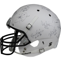 Heisman Trophy Winners Full Size Matte White Helmet Signed by (24) with Paul Hornung, Earl Campbell, Mike Rozier, Bo Jackson (Steiner COA) at PristineAuction.com
