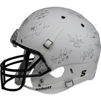 Heisman Trophy Winners Full Size Matte White HelmetSigned by (24) with Paul Hornung, Earl Campbell, Mike Rozier, Bo Jackson (Steiner COA)