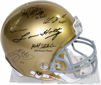 1988 Notre Dame Fighting Irish Full-Size Authentic Pro-Line Helmet Signed by (6) with Lou Holtz, Ricky Watters, Rocket Ismael, Tony Rice, Chris Zorich & Michael Stonebreaker (Steiner COA)